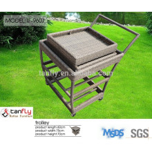Innovative design serving rattan trolley