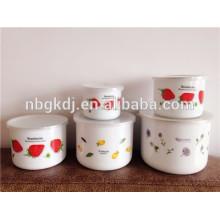 5 pc enamel high ice bowl set home bowl