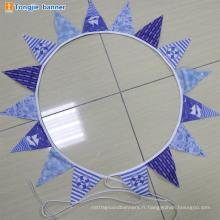 Wholesale polyester triangle de mariage chaîne bunting drapeau bannière