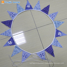 Wholesale polyester wedding triangle string bunting flag banner