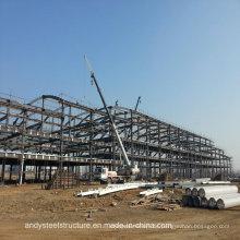 Mehrstöckige galvanisierte leichte vorfabrizierte Stahlrahmen-Fabrik