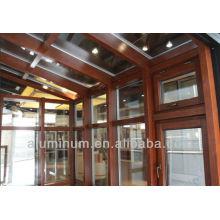 Salle de soleil en bois en aluminium