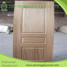Thickness 3.2mm 4.2mm Wood Veneer Face HDF Moulded Door Skin