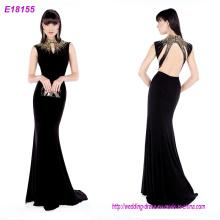 Las mujeres al por mayor de la manera visten los vestidos de noche multicolores del cuello de V