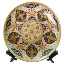 Wholesale Gold Luxury Eco-Friendly Porcelain Plate Ceramic Food Dish Plate Household Pottery Plate