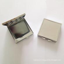 Boîte en métal argenté carré pour bijoux / cadeaux (BOX-29)