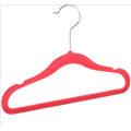 Child Flocked Velvet Plastic Clothes Hanger