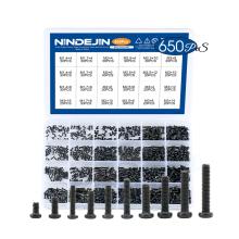 650PCS Black Oxide M1.4 M1.7 M2 M2.5 M3 Mini Camera Screw Kit Cross Recessed Pan Round Head Machine Screw
