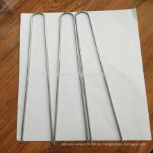 Pasadores galvanizados del perno de U del metal / grapas del césped / pernos de hierba artificiales
