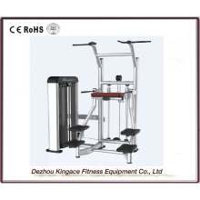 Kommerzielle Fitnessgeräte unterstützt Kinn / DIP-Maschine