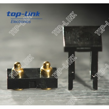 Connecteur de broche Pogo de type plat 2p avec boîtier pour SMT