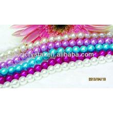 Perla artificial de alta calidad perla redonda de cristal