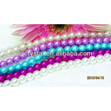 High quality artificial pearl round glass pearl