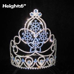 Coroas de cristal personalizadas do concurso de floco de neve