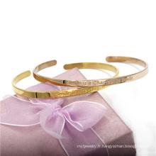 Bracelet en acier inoxydable en acier inoxydable de 4 mm 18 carats