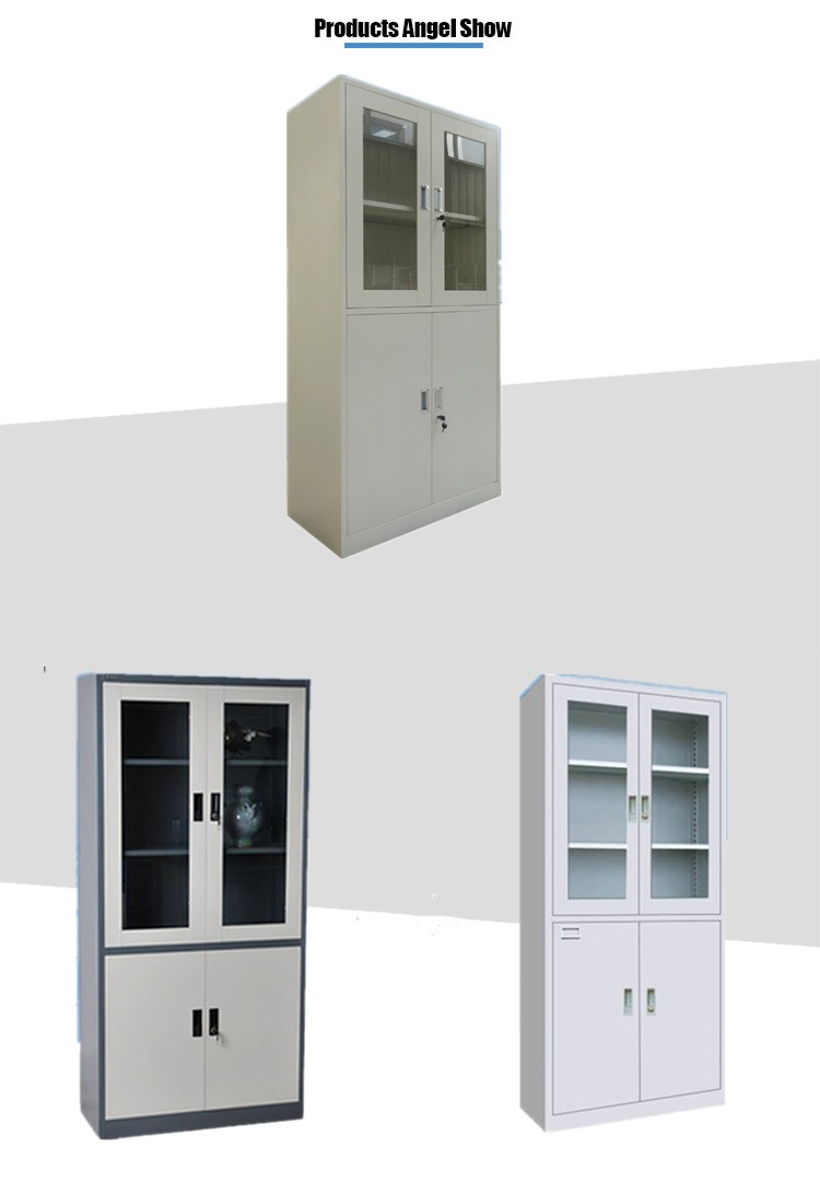 Metal Glass Storage Cabinet