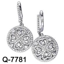 925 Sterling Silber Mikro Einstellung Ohrring (Q-7781)