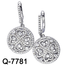 925 Sterling Silver Micro Setting Earring (Q-7781)