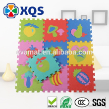 2016 hot sale Child soft alphabet number GYM interlocking puzzle toy floor EVA foam play mat, EVA soft foam exercise mats