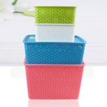 Caja de almacenaje de plástico de tejido para el hogar (SLSN004)