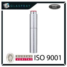 15ml SOLE Slim CNC cepillado de plata Twist Up Refill Perfume Travel Spray