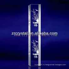 К9 лазерный 3D сливы цветок Вытравленный Кристалл с формой Штендера