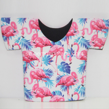 Nyaste Flamingo T-shirt Neopren Can Coolers