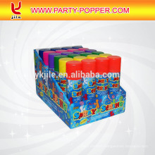 India Best Selling cheap party decorations online reusable compressed air can pink silly string bulk
