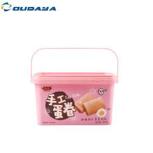 Экологически чистый пластиковый контейнер для пищевых продуктов IML PP коробка