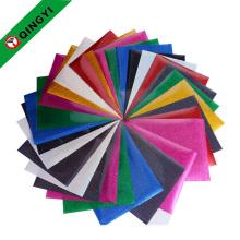 2017 nouvelles feuilles de vinyle de transfert de chaleur de glitter de conception pour des vêtements