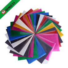 2017 New design glitter heat transfer vinyl sheets for clothing