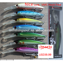 SHM 2# hard plastic tuna swimming saltwate rdiver fishing big lip minnow Lure