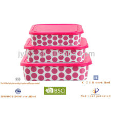 ceramic food storage container with silicone lid
