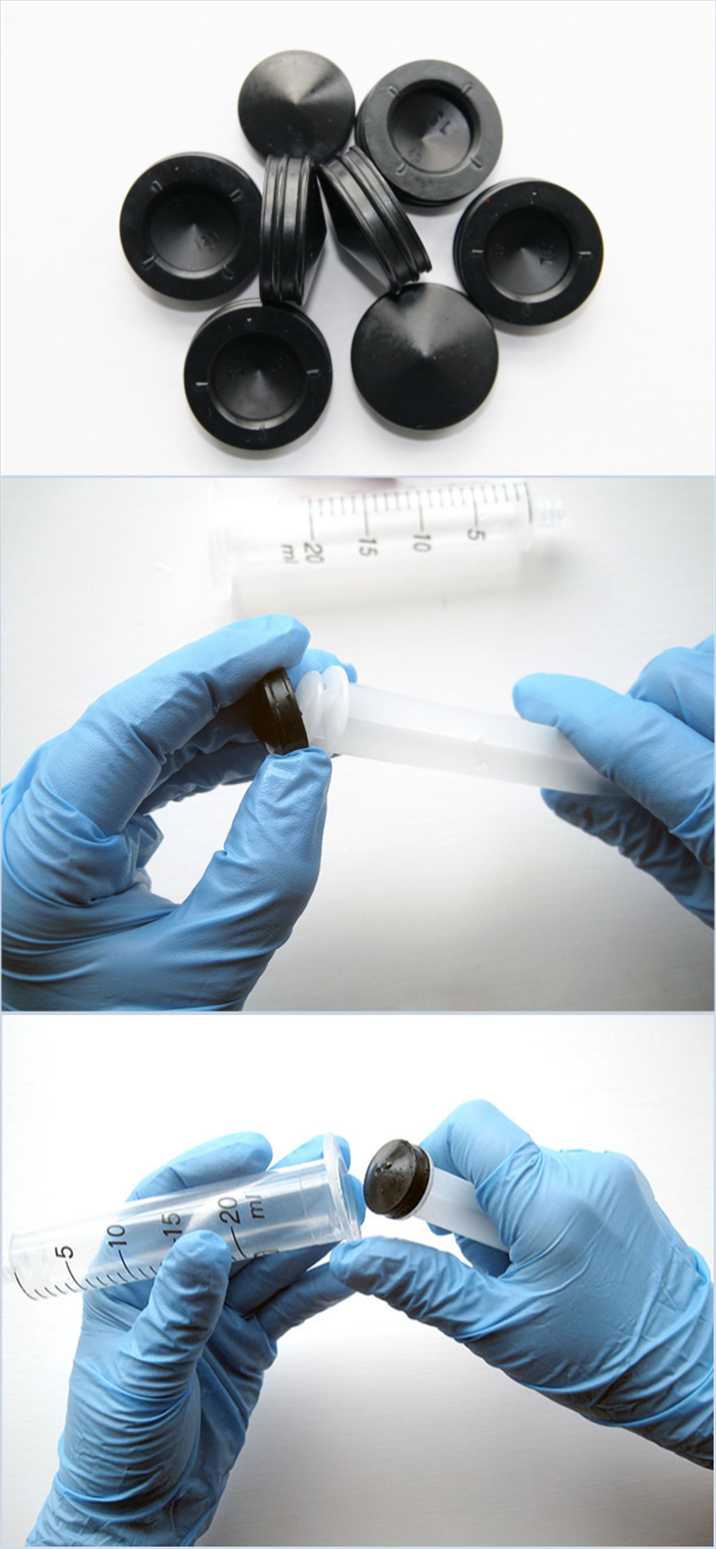 Syringe rubber piston