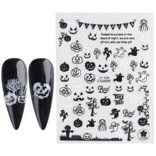 Factory Wholesale Halloween glow-in-the-dark gel nail art stickers