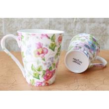 Coupe en céramique de coupe de petit-déjeuner de fabrication pour le lait, tasse de café en porcelaine