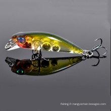 Appât de pêche Minnow Hard Lure 28mm de différentes couleurs