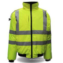 Revestimento protetor feito sob encomenda do Workwear do vis da roupa de trabalho da segurança olá!