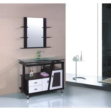Solid Wood Bathroom Cabinet (B-613B)