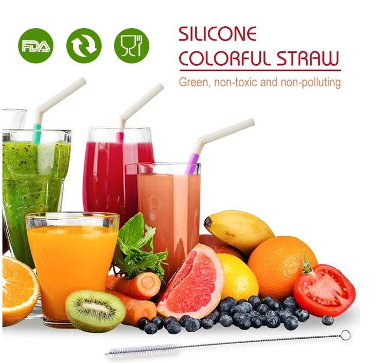 clear silicone straw