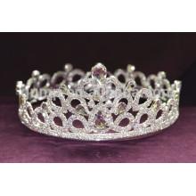 Coronas y tiaras de cristal del desfile de la belleza del rhinestone