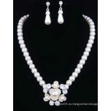 2014 último conjunto de collar de perlas encantadoras señoras