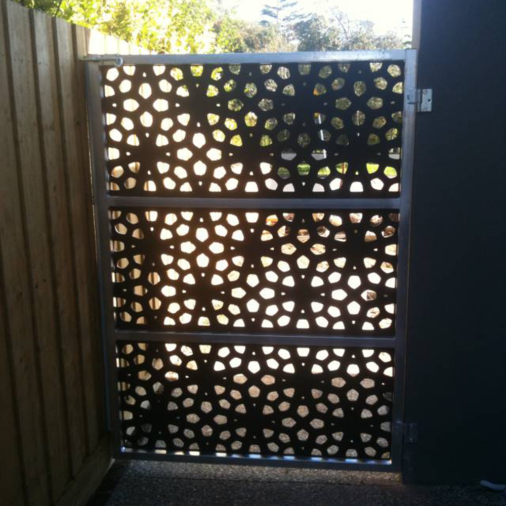 Laser Cut Metal Gates and Screen