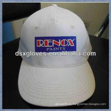 Blanco anuncio de la gorra de béisbol algodón impreso publicidad gorra de béisbol
