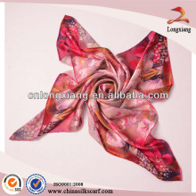 Digital printed ladies square scarf