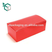Caixa de embalagem de dobramento de acabamento lustroso barato da impressão a cores alaranjada