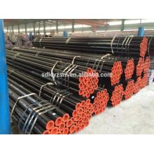 S235JR, S275JR, S355JR Tubo soldado de acero al carbono redondo negro de alta calidad para equipamiento deportivo