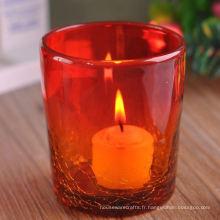 Pot à bougies en glace
