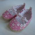 Pink Ballerina Shoes With Beautiful Bowknot For Girl