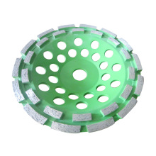 Muelas abrasivas de copa de diamante de doble fila de pulido rápido para hormigón